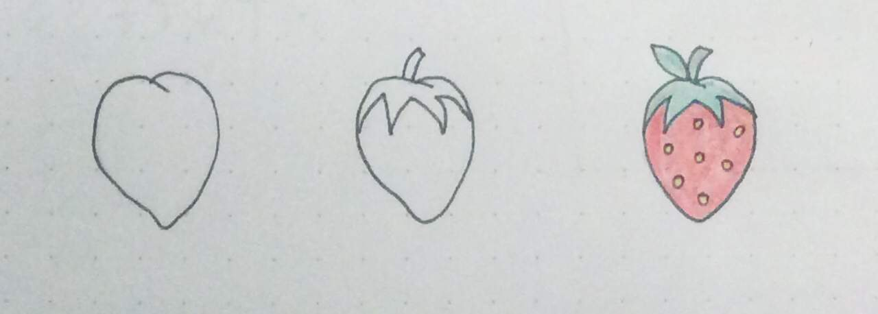 Doodle a strawberry